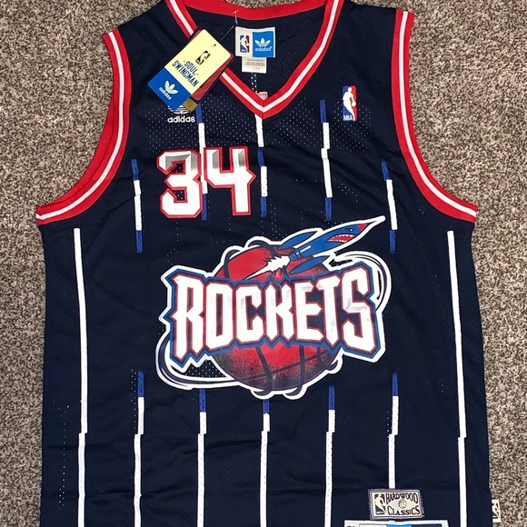 sports shoes 15635 e3898 Hakeem Olajuwon #34 1995-96 Houston Rockets Jersey